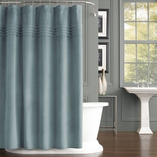 Five Queens Court Emily Velvet Shower Curtain (3 options available)