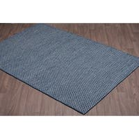 Nordique Handmade Reversible Blue Wool Rug - 8' x10'