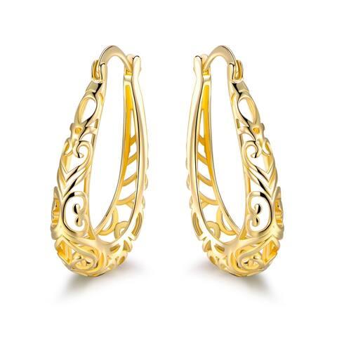 Gold Plated Filigree Fringe Earrings
