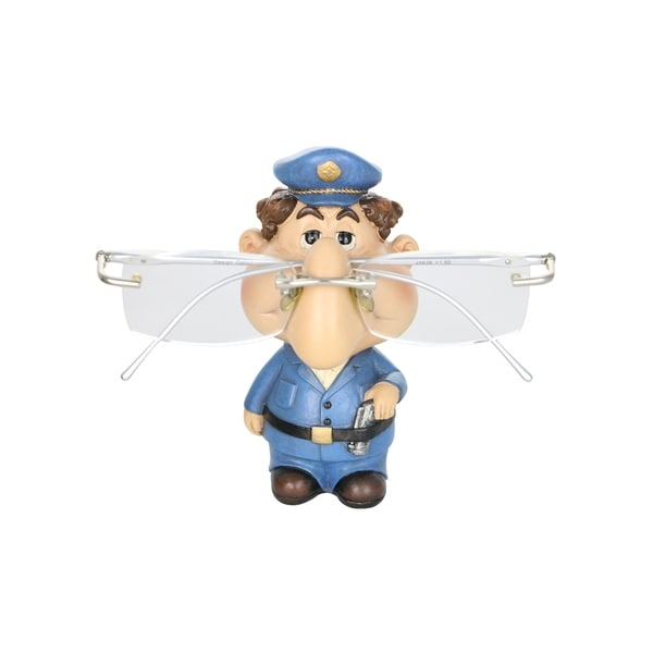 "Eyeglass Holder 4.5"" Policeman Whimsical Figurine Home Office Decor Display Accessory"