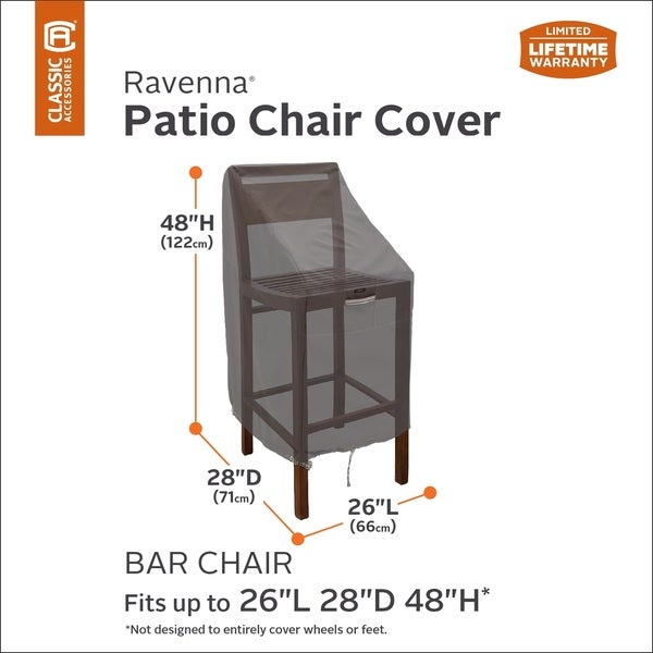 Clic Accessories Ravenna Patio Bar Chair Stool Cover