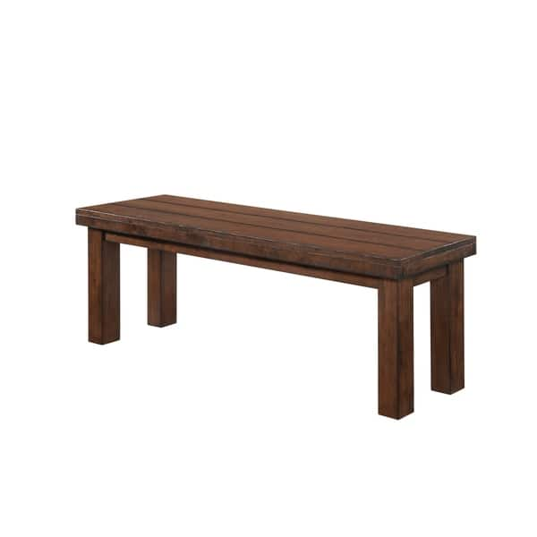 Awesome Shop Carbon Loft Evelyn Burnished Oak Dining Bench Free Theyellowbook Wood Chair Design Ideas Theyellowbookinfo