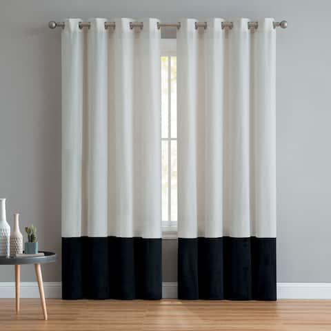 VCNY Home Vivienne Linen Velvet Curtain Panel