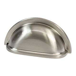 """10 Pack Crescent 3"""" Brushed Nickel Cup Cabinet Pull Handle"""