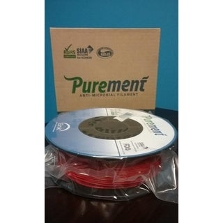 PUREMENT® Anti Bacterial Red Filament 1.75mm, a PLA That Kills Germs (Single Pack)
