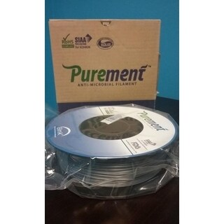 PUREMENT® Anti Bacterial Silver Filament 1.75mm, a PLA That Kills Germs (2 Pack)