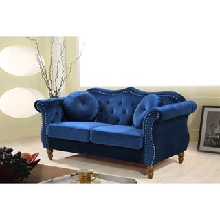 Classic Nailhead Chesterfield Loveseat