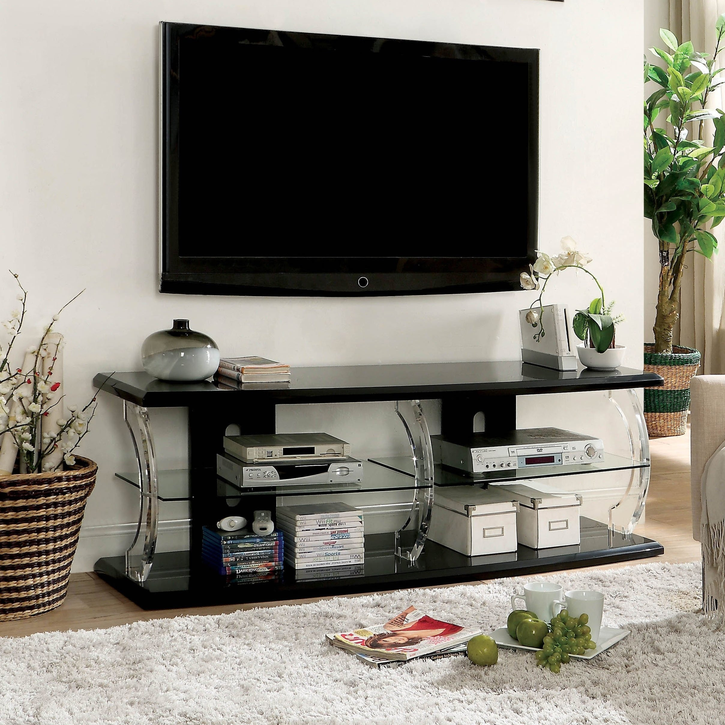 Tekna Modern Tv Stand With Led By Foa On Free Shipping Today 20865583