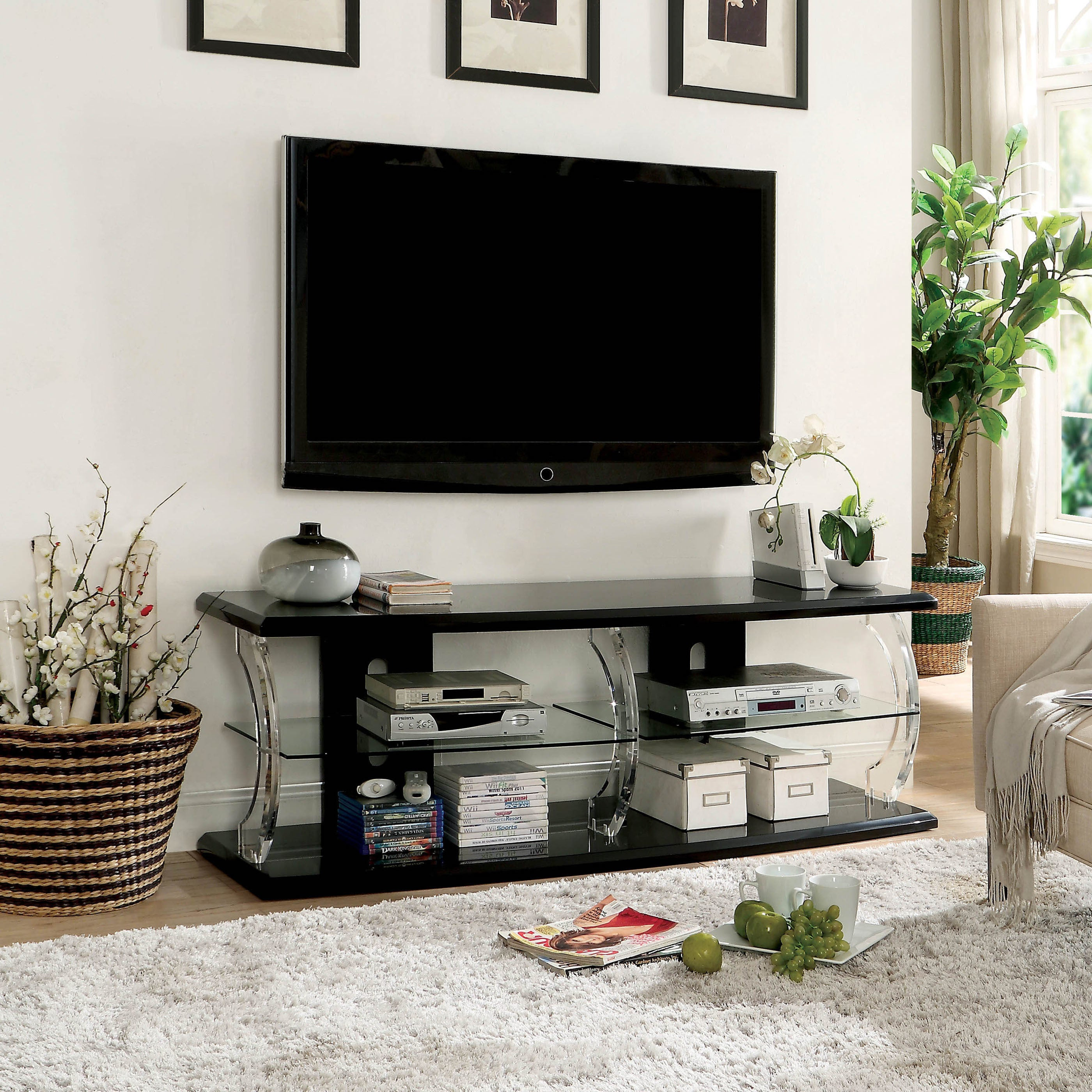 Shop tekna modern tv stand with led by foa on sale free shipping today overstock 20865583