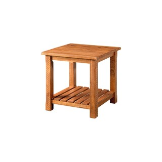 Martin Svensson Home Barn Door Collection Solid Wood End Table (Option: Tan)