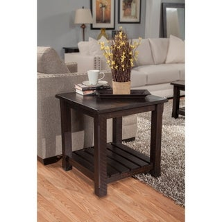 shop martin svensson home barn door collection solid wood end table on sale free shipping. Black Bedroom Furniture Sets. Home Design Ideas