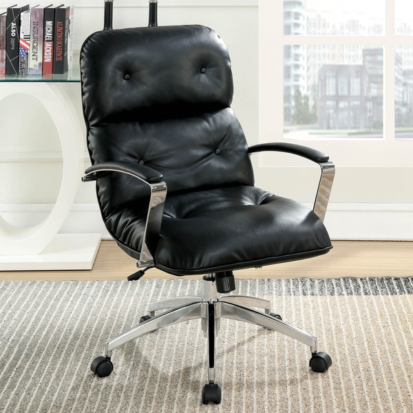 Furniture of America Cerr Vintage Faux Leather Home Office Desk Chair. Opens flyout.