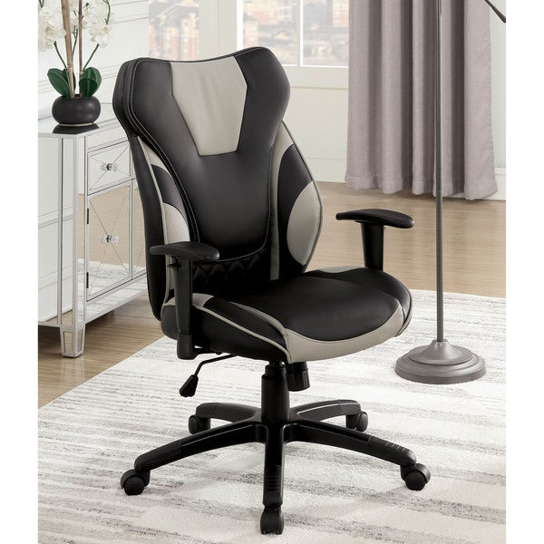 Office Furniture Free Shipping: Shop Furniture Of America Naples Two-Tone Leatherette