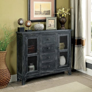 Furniture of America Tamron Rustic 2-door Hallway Cabinet