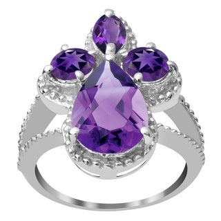 Beautiful 925 Sterling Silver Gemstone Bridal Ring with Choice of Gemstone