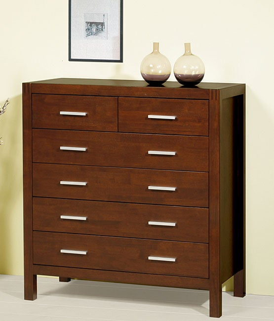 Creighton Walnut Cherry 6-drawer Dresser