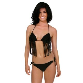 Simplicity Women's Padded Summertime Sexy Fringe 2 Pc Bikini Set