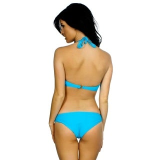 Simplicity Women's Fringe Padded Bikini Set Swimwear Swimsuit