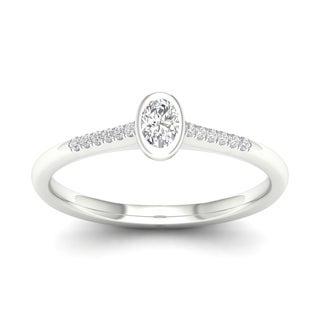 De Couer 10k Gold 1/5Ct TDW Diamond Classic Engagement Ring (More options available)