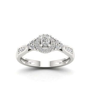 De Couer 10k Gold 1/3Ct TDW Diamond Vintage Style Engagement Ring (More options available)