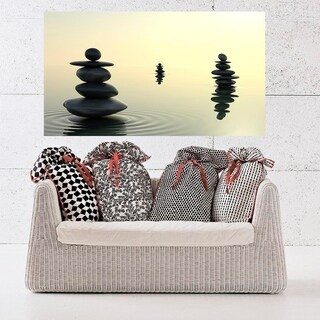 """Stones Spa Full Color Wall Decal Sticker AN-680 FRST Size 20""""x31"""""""