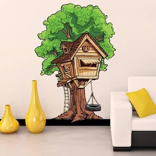 """Tree House Kids Full Color Wall Decal Sticker K-205 FRST Size52""""x104"""""""