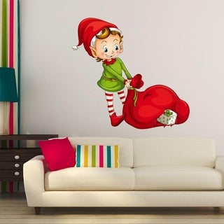 """Elf Presents Full Color Wall Decal Sticker K-196 FRST Size 52""""x65"""""""