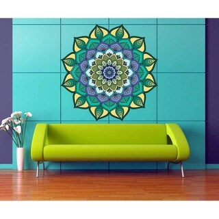 """Mandala India Full Color Wall Decal Sticker K-243 FRST Size 52""""x52"""""""