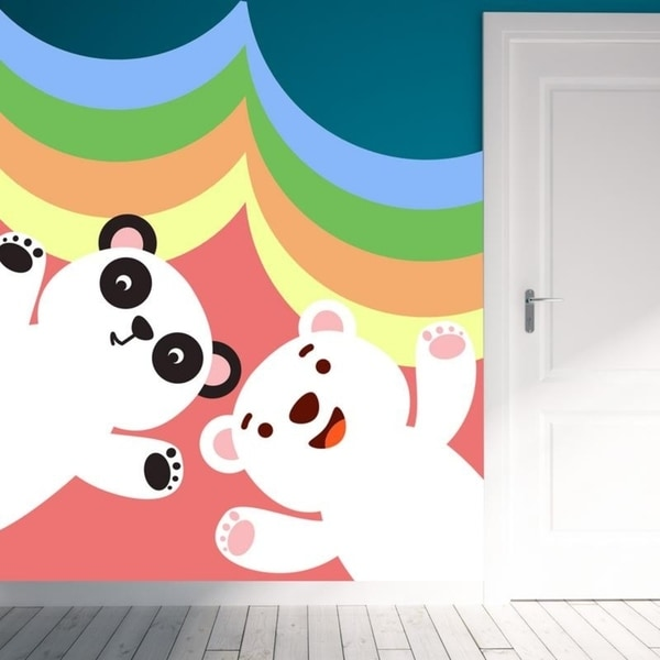 Panda Bear Full Color Wall Decal Sticker K 275 Frst Size