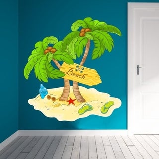 "Beach Sand Sea Full Color Wall Decal Sticker K-269 FRST Size 46""x56"""