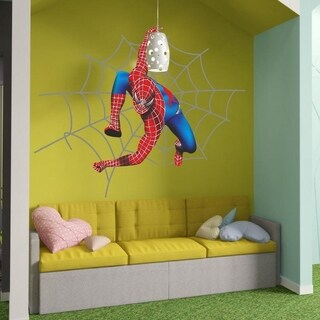 "Superhero Spider Full Color Wall Decal Sticker K-292 FRST Size20""x31"""