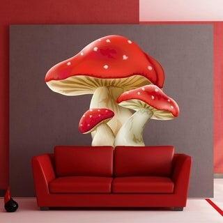 """Huge Mushrooms Full Color Wall Decal Sticker K-299 FRST Size 52""""x52"""""""