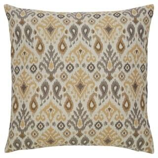Damarion Tan Ikat Design Throw Pillow