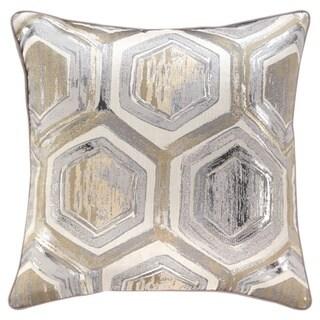 Meiling Metallic Hexagon Throw Pillow
