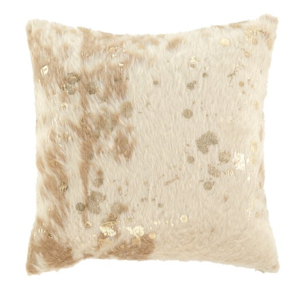 Landers Ivory Faux Fur Pillow