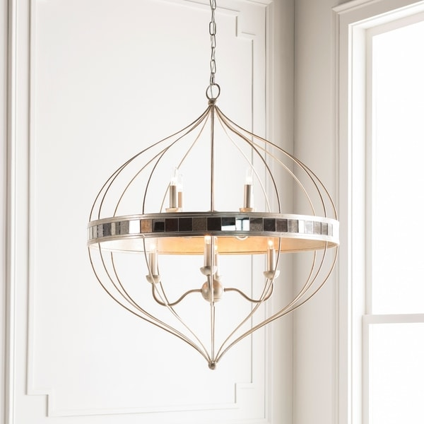 Soraya Updated Traditional Silver Pendant Lighting Fixture
