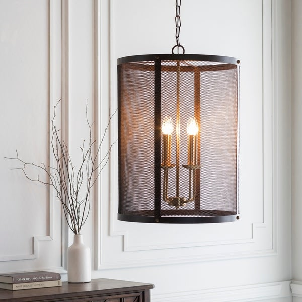 "Caleigh Transitional Bronze 26"" Pendant Lighting Fixture"