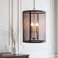 "Caleigh Transitional Bronze 26"" Pendant Lighting Fixture"