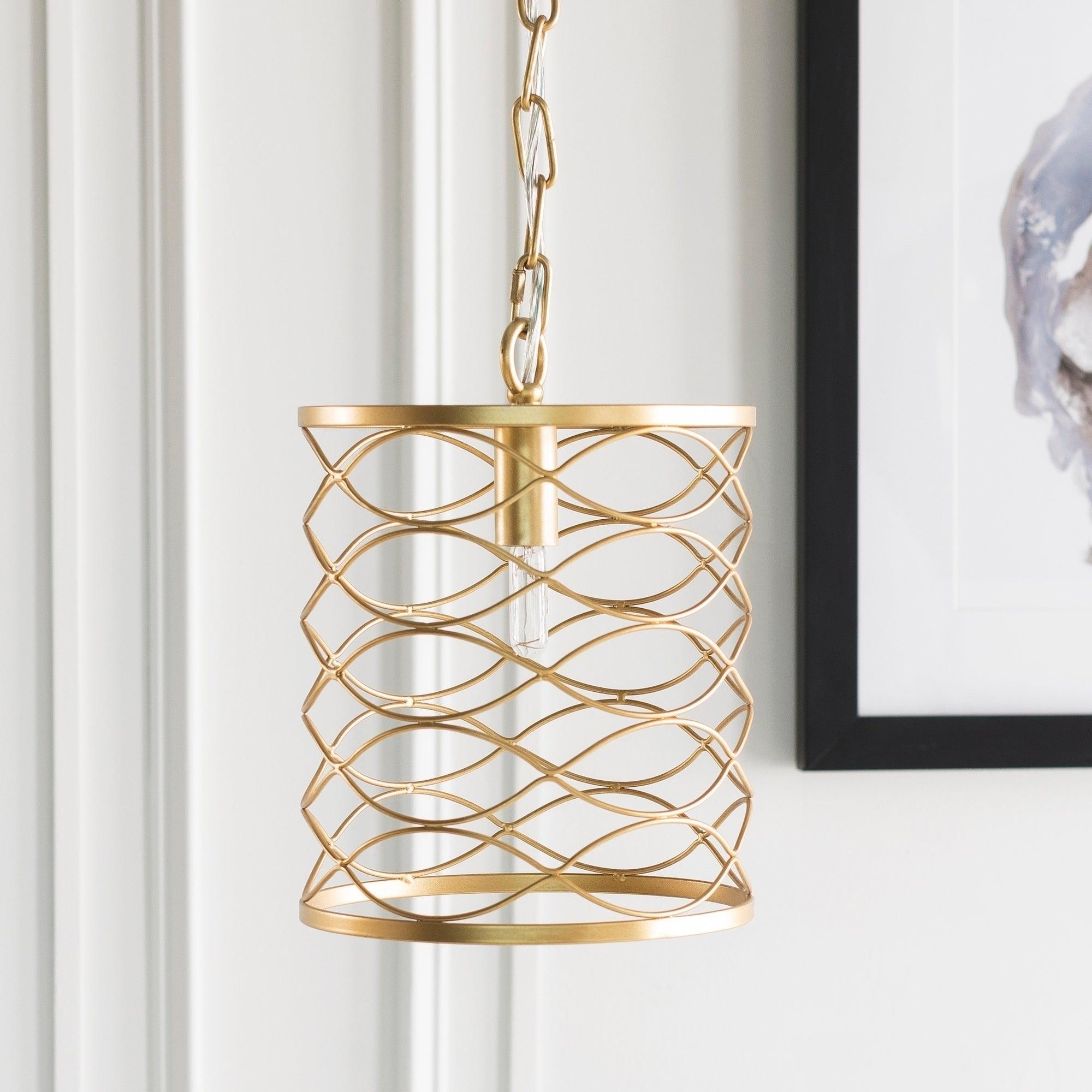 Shop Francene Updated Traditional Gold Pendant Lighting Fixture On Sale Overstock 20873230