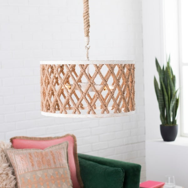 Aracely Transitional Cream Pendant Lighting Fixture