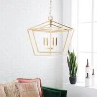 "Prosperus Updated Traditional Gold 21"" Lantern Lighting Fixture"