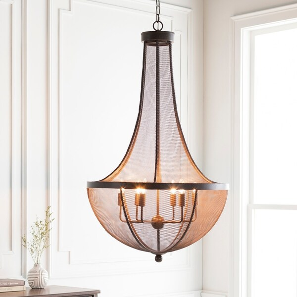 "Caleigh Transitional Bronze 46"" Chandelier Lighting Fixture"