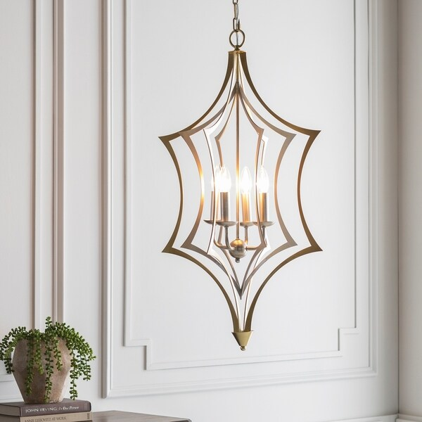 Maxene Updated Traditional Gold Pendant Lighting Fixture