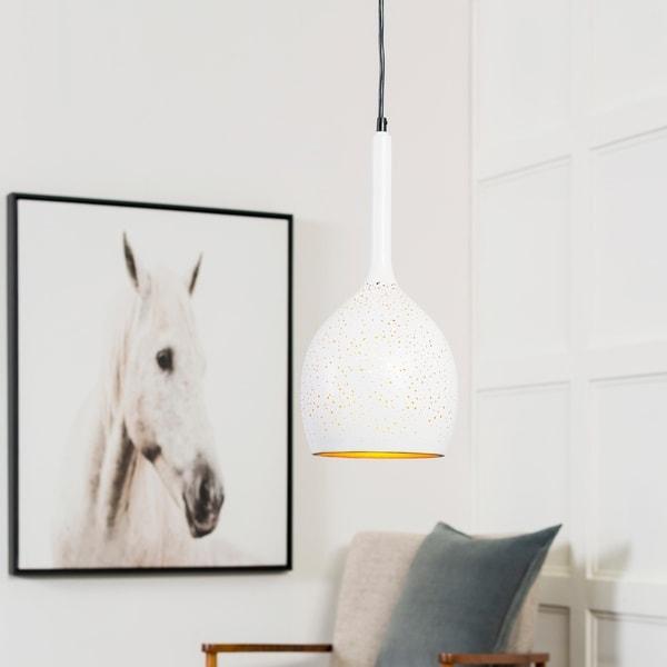 "Boadicea Modern White 16.5"" Pendant Lighting Fixture"