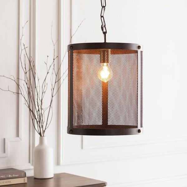"Caleigh Transitional Bronze 16"" Pendant Lighting Fixture"
