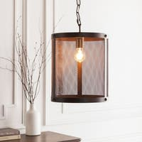 "Caleigh Transitional Bronze 16"" Pendant Lighting Fixture"