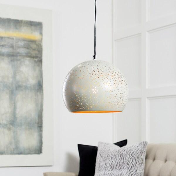 "Boadicea Modern Grey 10.25"" Pendant Lighting Fixture"
