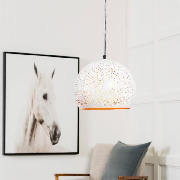 "Boadicea Modern White 10.25"" Pendant Lighting Fixture"