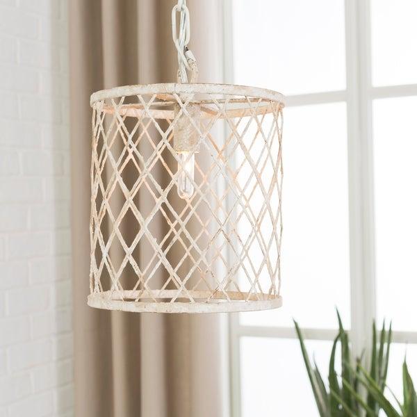 Antonia Transitional White Pendant Lighting Fixture