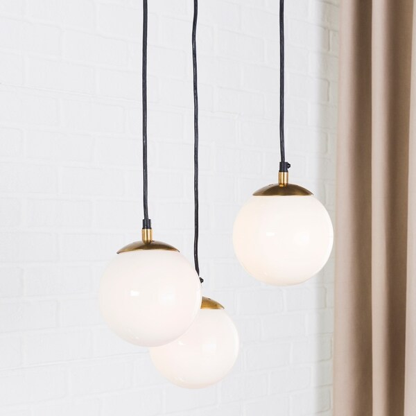 Phaidra Modern Gold 3-Light Pendant Lighting Fixture